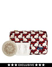Paul & Joe ASOS Exclusive Cat Print Cosmetic Bag + Hand cream + Eye Treatment Duo Sachet