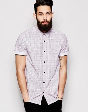 New Look Shirt in Painted Check Print