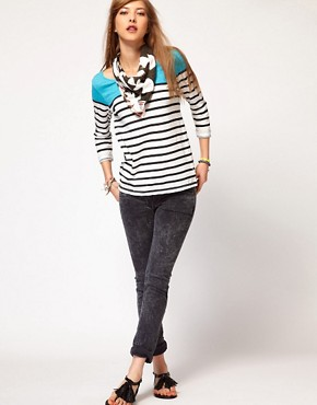 Image 4 ofMaison Scotch Breton Tee with Ikat Scarf