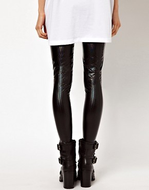 Image 2 ofASOS Leggings in Holographic Effect