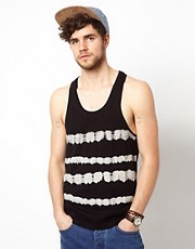 ASOS Stripe Vest With Tie Dye Print