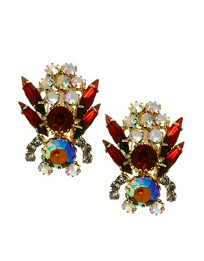 Image 1 ofASOS Bug Earrings