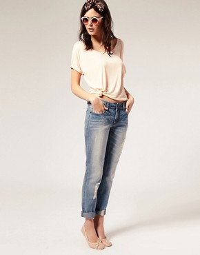Image 4 ofASOS Ripped Vintage Boyfriend Jeans