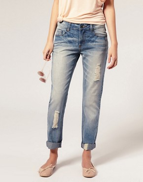 Image 1 ofASOS Ripped Vintage Boyfriend Jeans