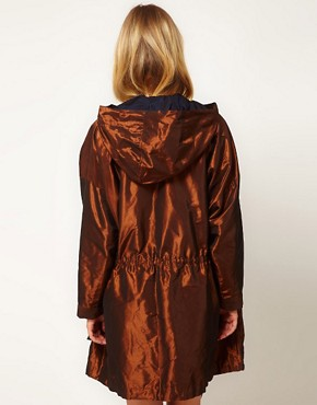 Imagen 2 de Parka de tafetn color bronce de White Tent