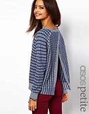 ASOS PETITE Jumper With Stitch Detail And Open Back