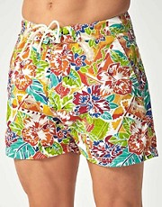Scotch &amp; Soda Hibiscous Swim Shorts