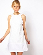ASOS Mini Shift Dress In Sequin Lace
