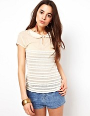 Free People Ruffle My Feather Top