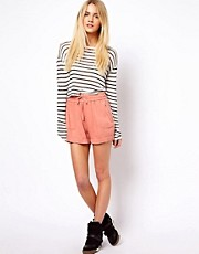 ASOS Casual Shorts in Washed Red