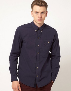 Image 1 ofFred Perry Oxford Shirt Royal Work