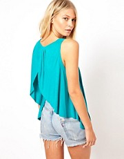 ASOS Top with Drape Open Back