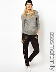 ASOS Maternity Jogger Pant With Studding