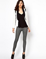 Warehouse Tribal Print Ponte Leggings