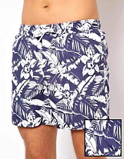 ASOS Swim Shorts With Floral Print
