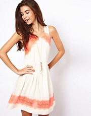 Free People Georgia Dress with Lace Detail