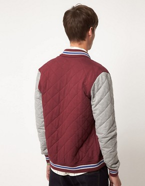 Image 2 ofASOS Quilted Varsity Jacket