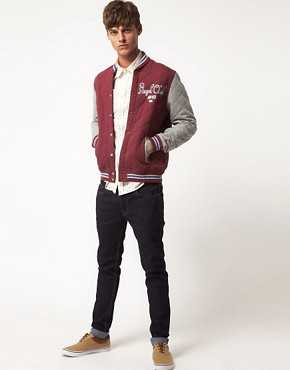 Image 4 ofASOS Quilted Varsity Jacket