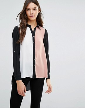 Influence Block Coloured Blouse