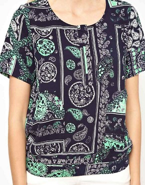 Image 3 ofSelected Printed Woven Shell Top with Pockets