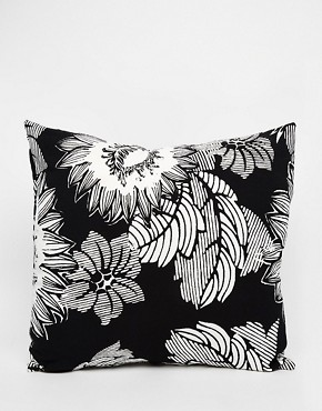 ASOS AFRICA Cushion in Mono Floral Print
