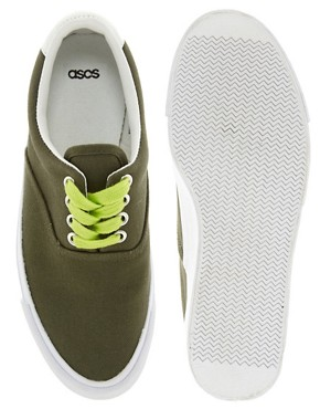 Image 4 ofASOS DENVER Plimsolls