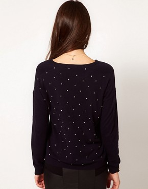 Image 2 ofWhistles Gracie Stone Embellished Sweater