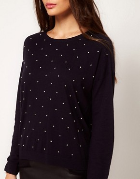 Image 3 ofWhistles Gracie Stone Embellished Sweater