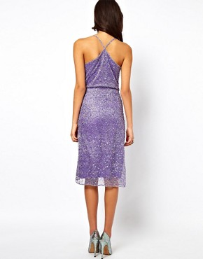 Image 2 ofASOS Cami Wrap Dress With Holographic Embellishment