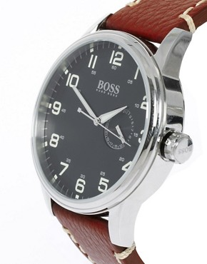 Image 2 ofBoss by Hugo Boss Leather Brown Watch