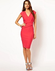 Vesper Deep V Neck Pencil Dress