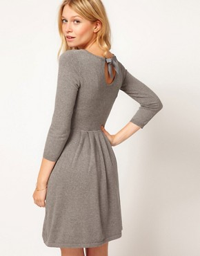 Image 1 ofASOS Knitted Dress with Bow Back