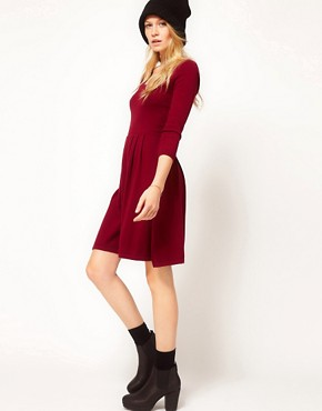 Image 4 ofASOS Knitted Dress with Bow Back