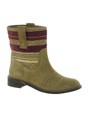 Park Lane Camel Print Flat Boots