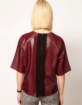 Image 2 ofASOS Leather T-Shirt