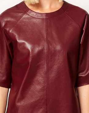 Image 3 ofASOS Leather T-Shirt