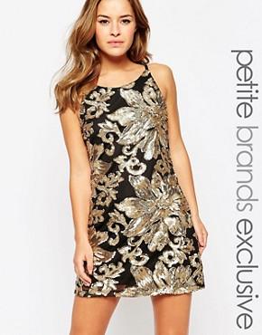 True Decadence Petite Embellished Cami Mini Dress