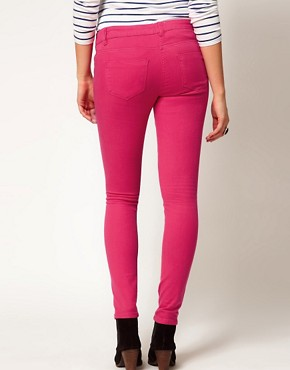 Image 2 ofASOS Maternity Exclusive Skinny Jeans In  Pink