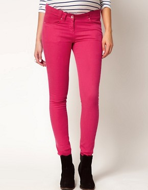 Image 4 ofASOS Maternity Exclusive Skinny Jeans In  Pink