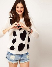 ASOS Chunky Heart Jumper