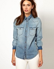 Warehouse Authentic Denim Shirt