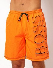 Boss Black Orange Killifish Swim Short