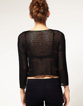 Image 2 ofASOS Premium Knitted Top With  Embellished Cross Detail