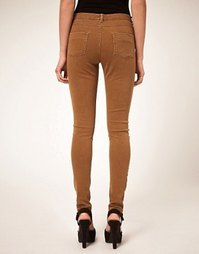 Image 2 ofASOS Washed Camel Skinny Jeans