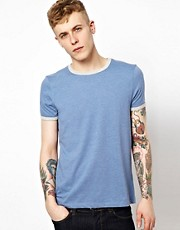 ASOS T-Shirt With Contrast Necktrim And Cuff