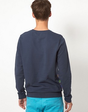 Image 2 ofASOS Sweatshirt With Aztec Print