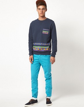 Image 4 ofASOS Sweatshirt With Aztec Print