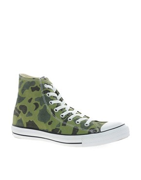 Image 1 ofConverse All Star Camouflage High Top Trainers