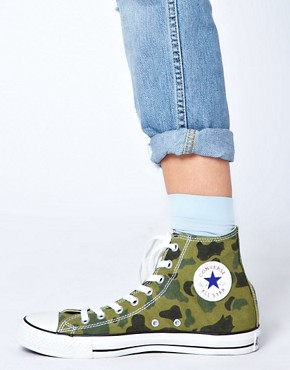 Image 3 ofConverse All Star Camouflage High Top Trainers