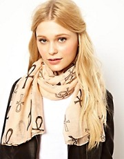 New Look Ankh Print Scarf